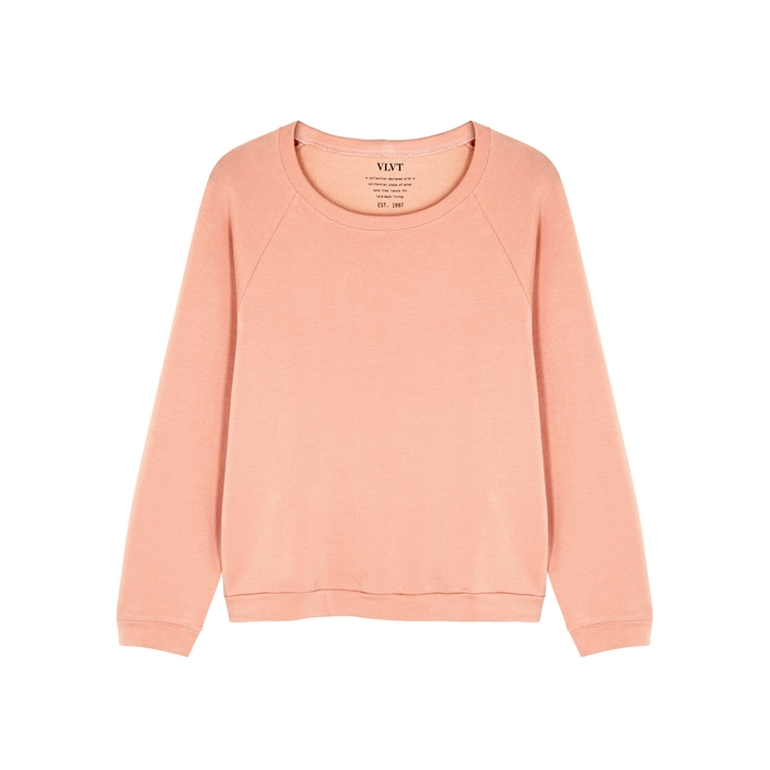 Velvet By Graham & Spencer T-shirts VELVET BY GRAHAM & SPENCER EDLYN PINK JERSEY SWEATSHIRT