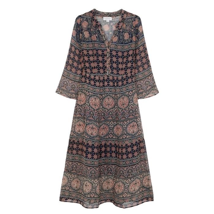 Velvet By Graham & Spencer Dresses VELVET BY GRAHAM & SPENCER ZENDAYA PRINTED CHIFFON DRESS