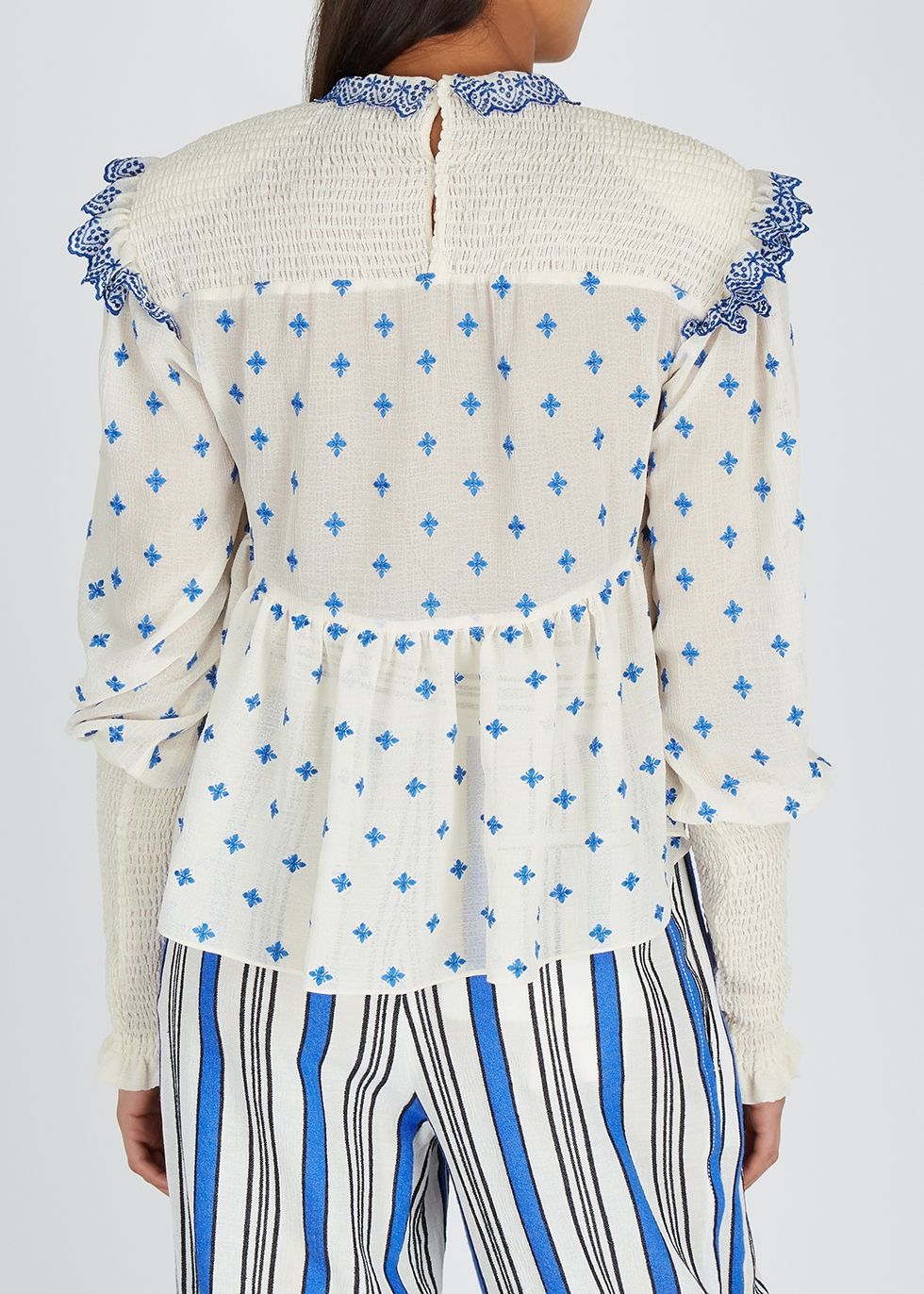 Cream embroidered gauze blouse - Philosophy Di Lorenzo Serafini