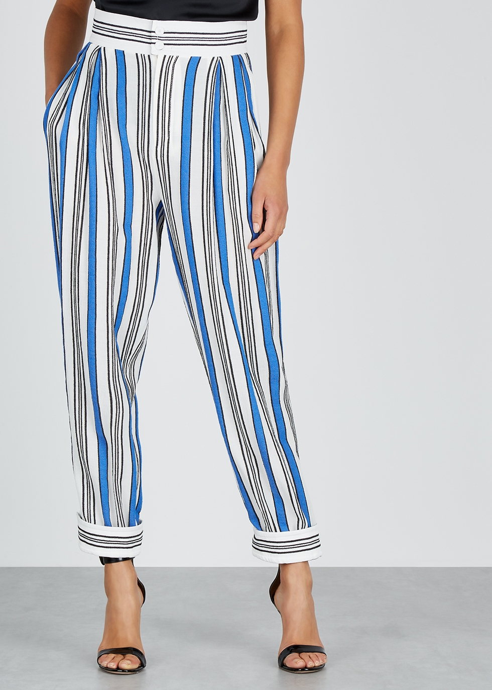 Striped tapered gauze trousers - Philosophy Di Lorenzo Serafini