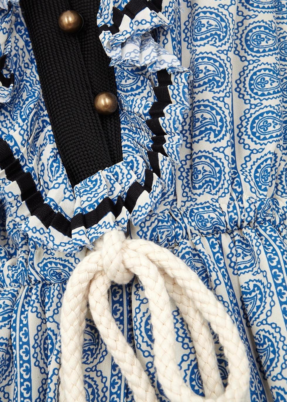 Blue printed chiffon playsuit - Philosophy Di Lorenzo Serafini