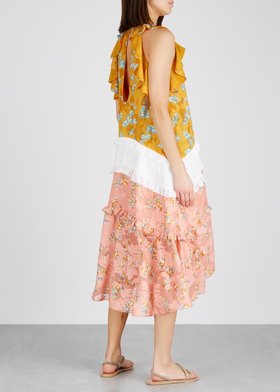 Flower Child printed chiffon dress - THREE FLOOR