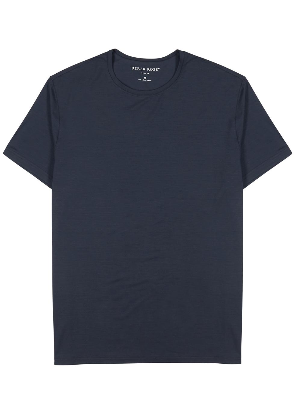 Navy jersey T-shirt