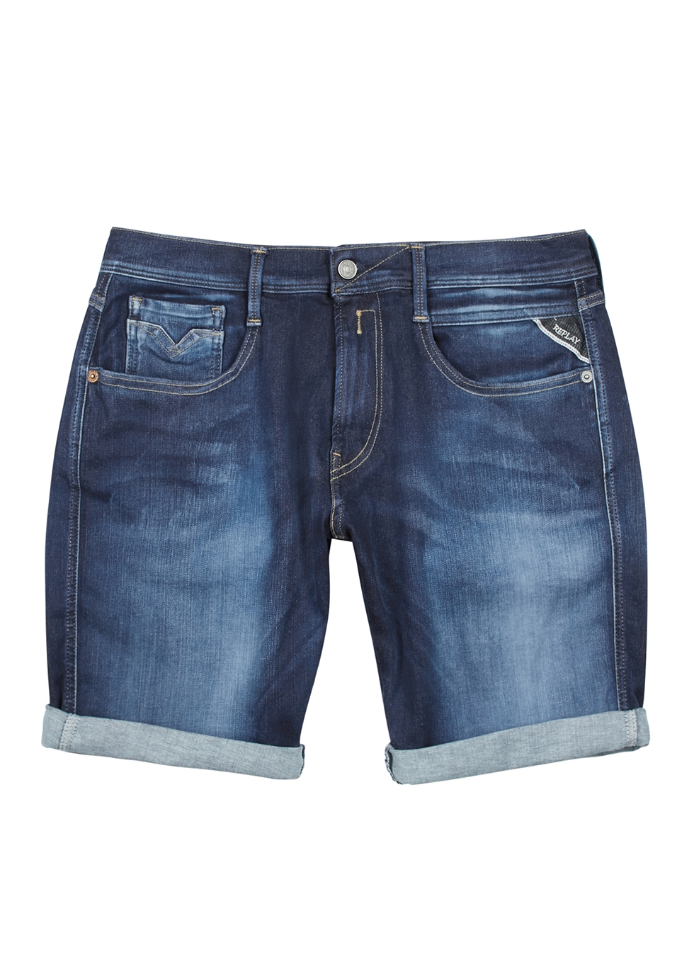 Blue Shorts Nichols Harvey Leg Anbass Slim Replay 5Ow4q1Ix