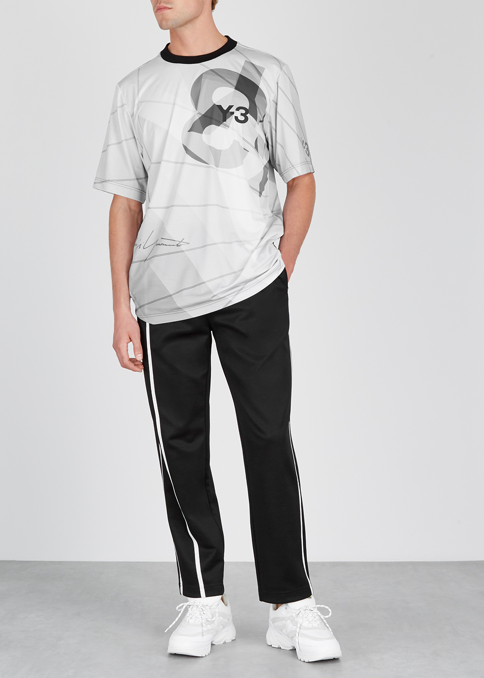 Light grey printed jersey T-shirt - Y-3