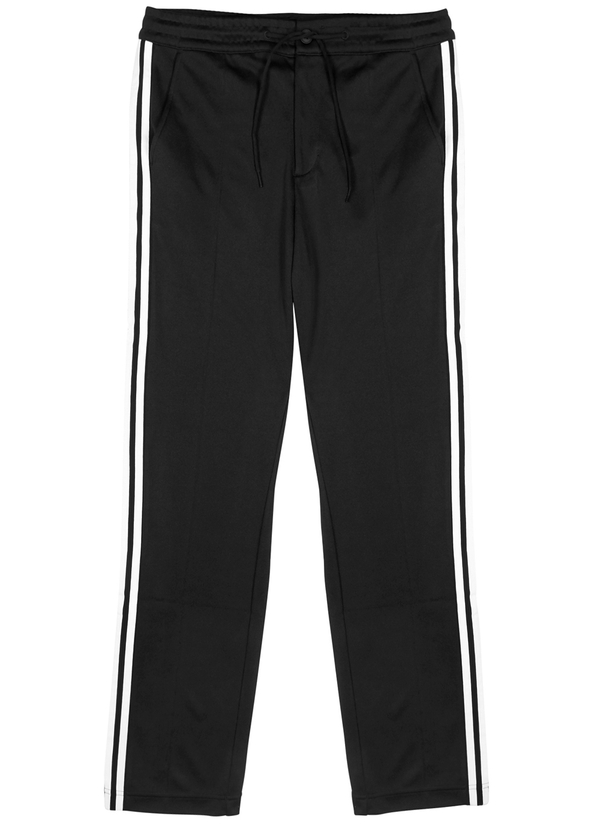 Black striped jersey sweatpants ... bac4e680762e6