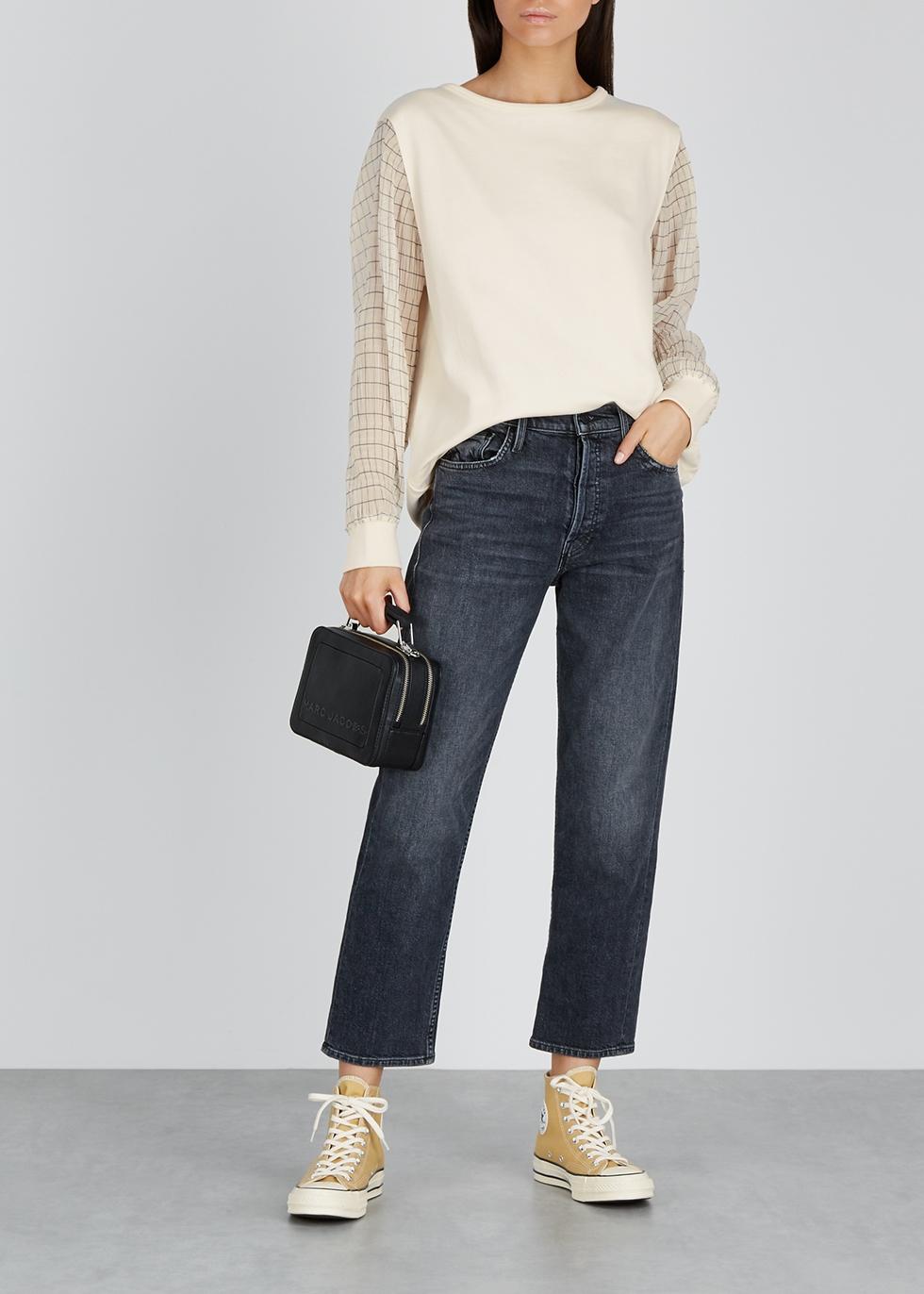 Cream cotton and georgette sweatshirt - Calvin Klein