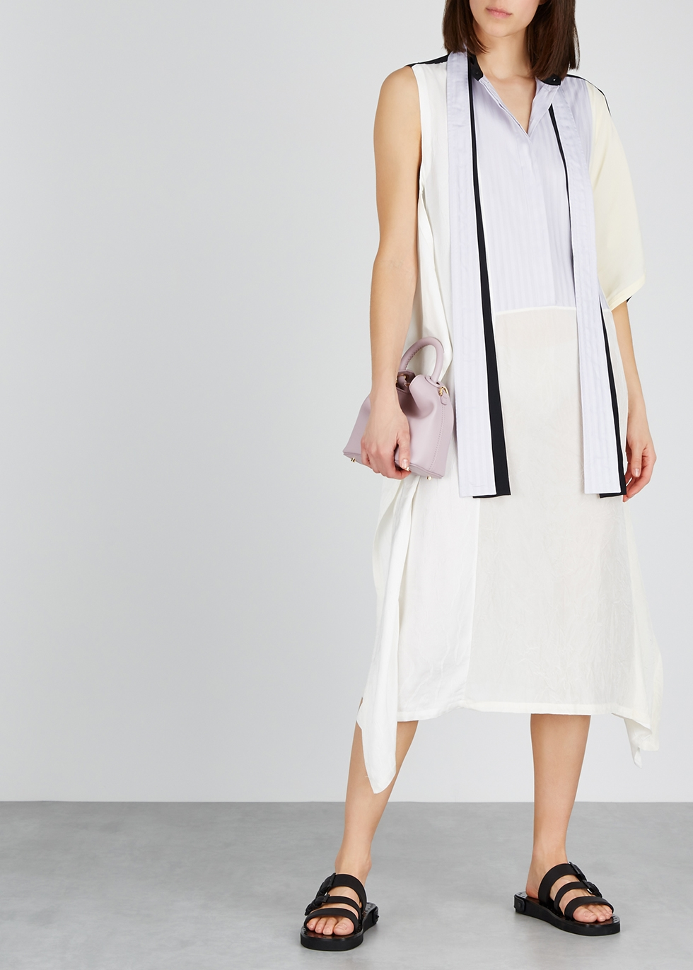 Panelled crepe de chine midi dress - JW Anderson