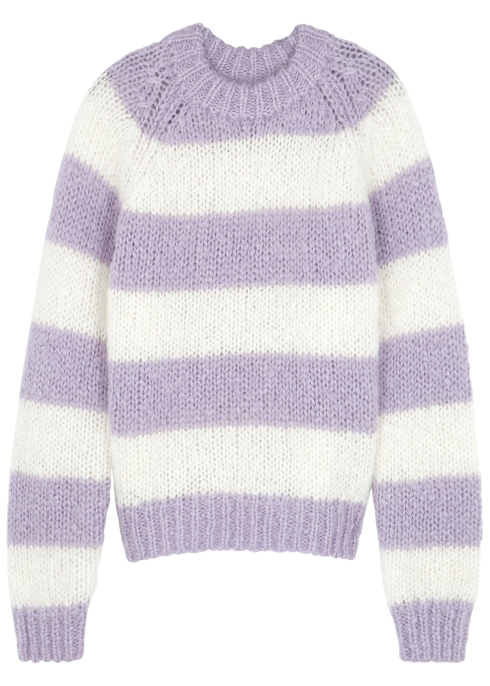d2f04464096 Samsøe   Samsøe Simone striped mohair-blend jumper - Harvey Nichols