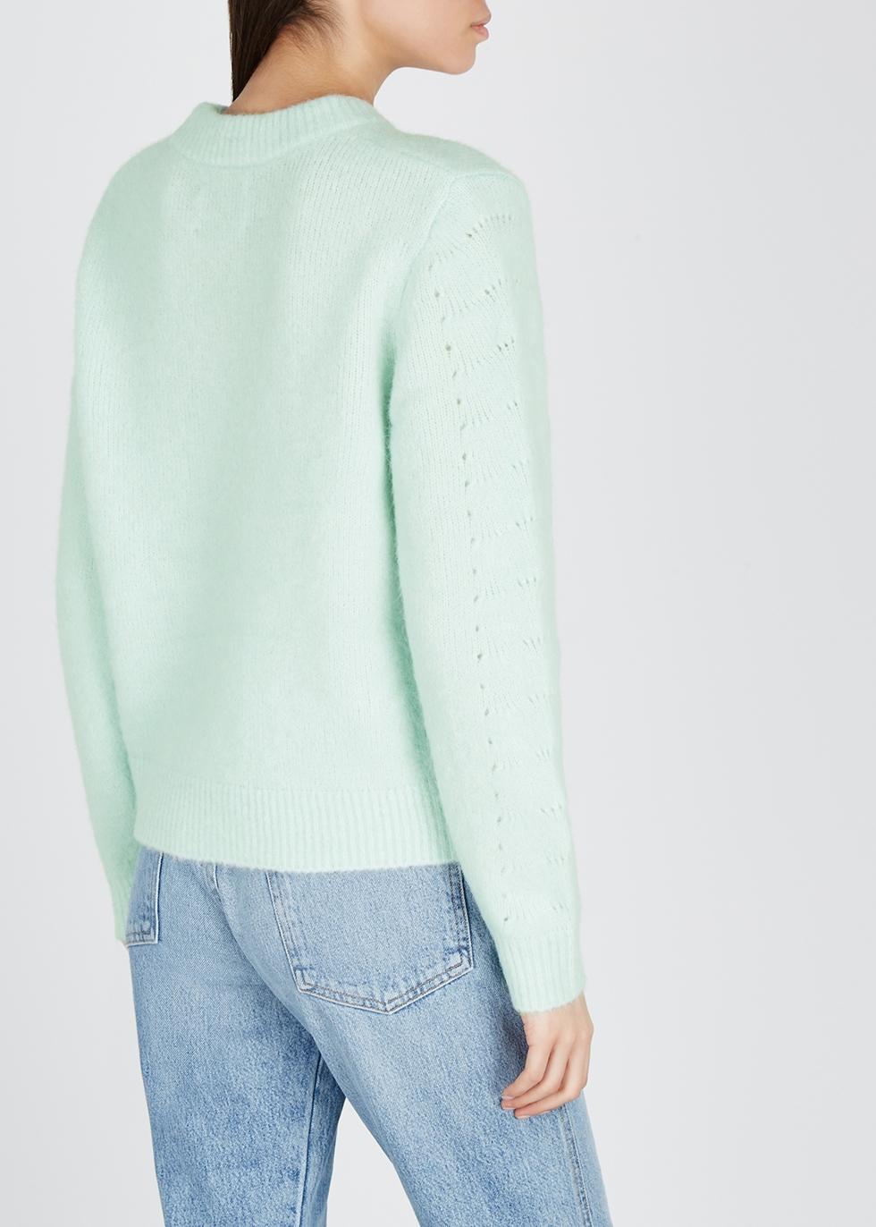 Nola mint pointelle-knit jumper - Samsøe & Samsøe