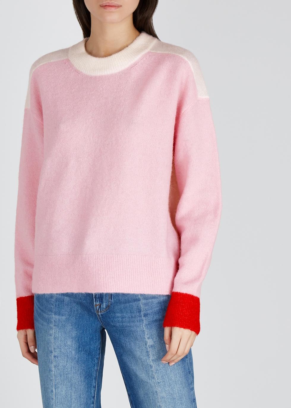Anour colour-block knitted jumper - Samsøe & Samsøe