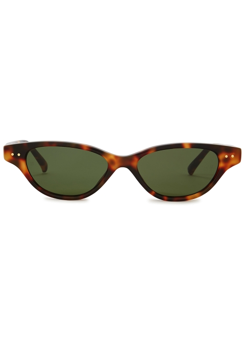 824320b07f Linda Farrow Luxe 965 tortoiseshell cat-eye sunglasses - Harvey Nichols