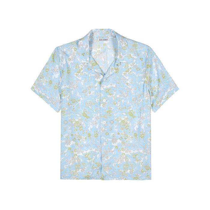 Our Legacy T-shirts BLUE PRINTED SHIRT