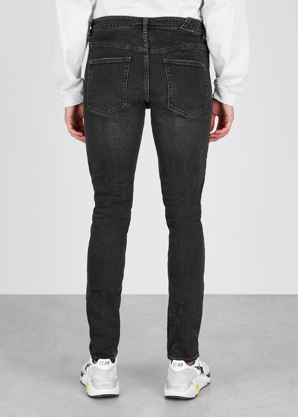 Chitch black tapered-leg jeans - ksubi