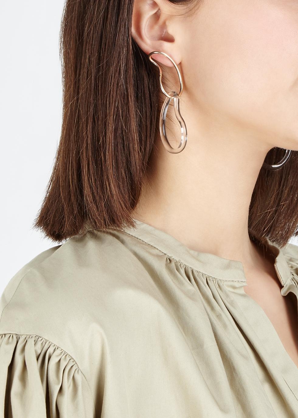 Glass hoop earrings - Annika Inez