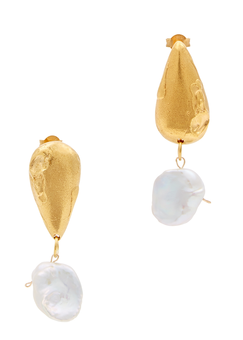 ALIGERHI Fear And The Desire Gold-Plated Drop Earrings
