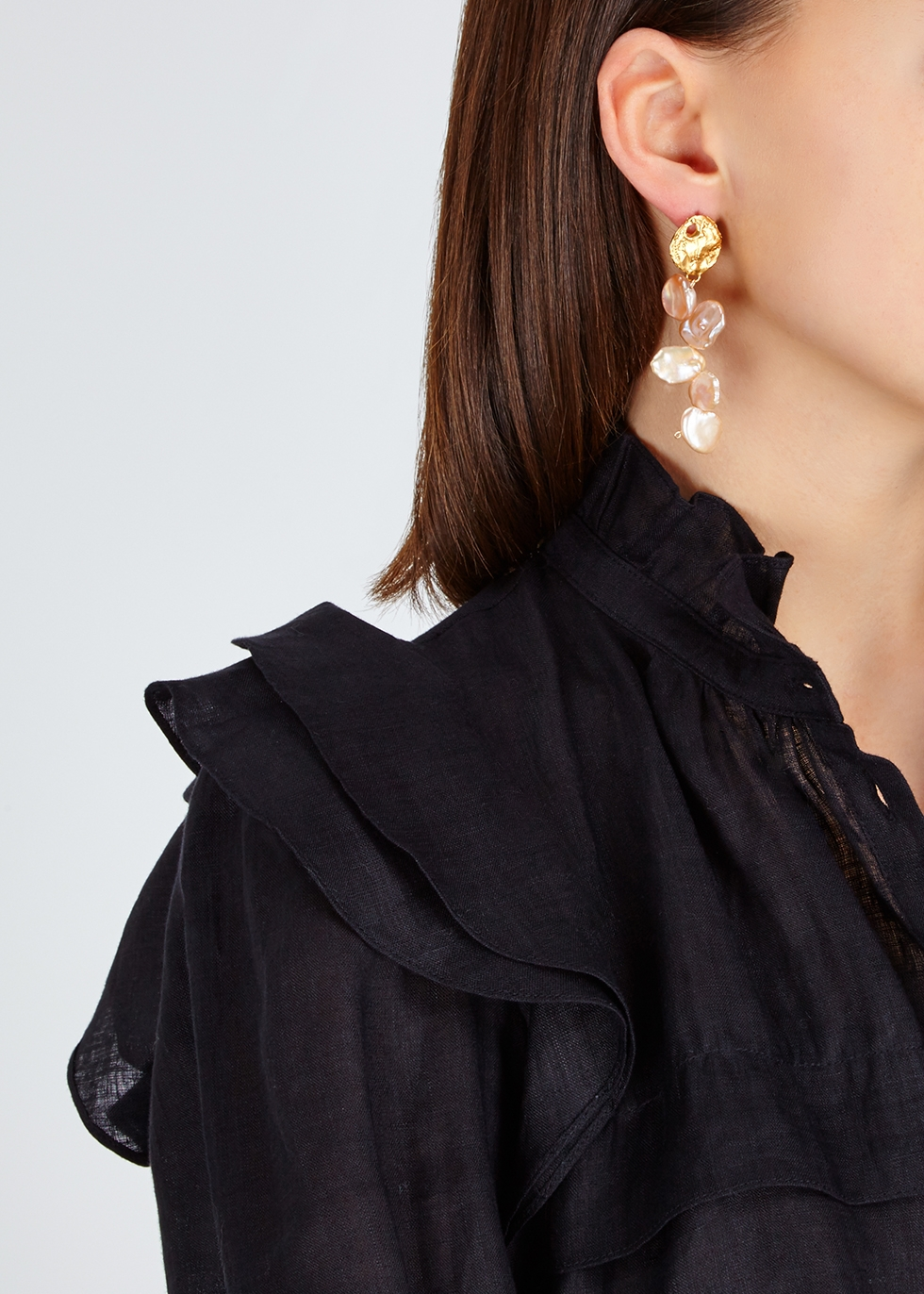Le Jetée gold-plated drop earrings - Alighieri