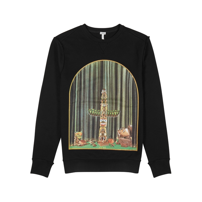 Loewe Window Totem Cotton Sweatshirt