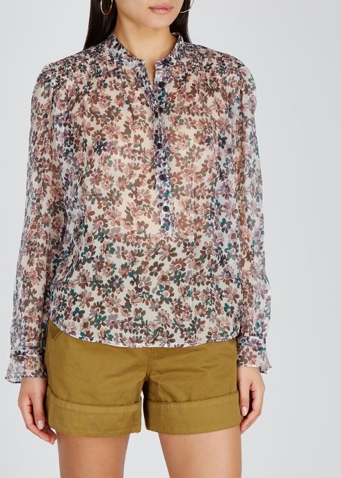 2df7d5f3624d28 rag   bone Susan floral-print silk chiffon shirt - Harvey Nichols
