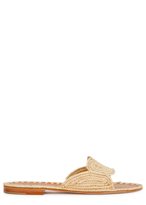 d1836fb11a92 Carrie Forbes Naima woven raffia sliders - Harvey Nichols