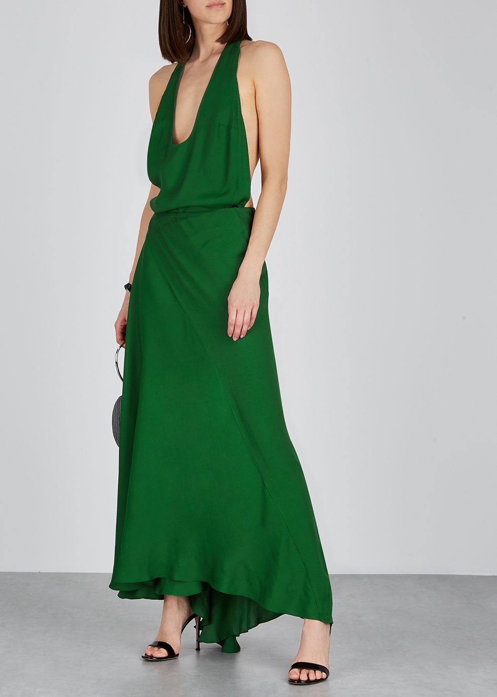 Green halterneck maxi dress - Haider Ackermann