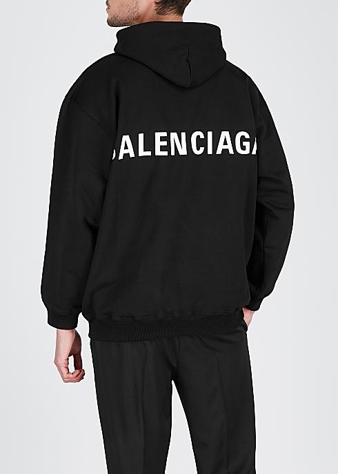 e42bdcf9 Balenciaga Logo-print hooded cotton sweatshirt - Harvey Nichols