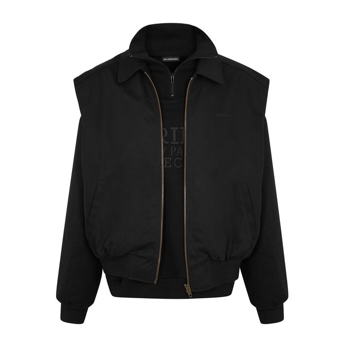 Balenciaga Black Layered Jersey Sweatshirt