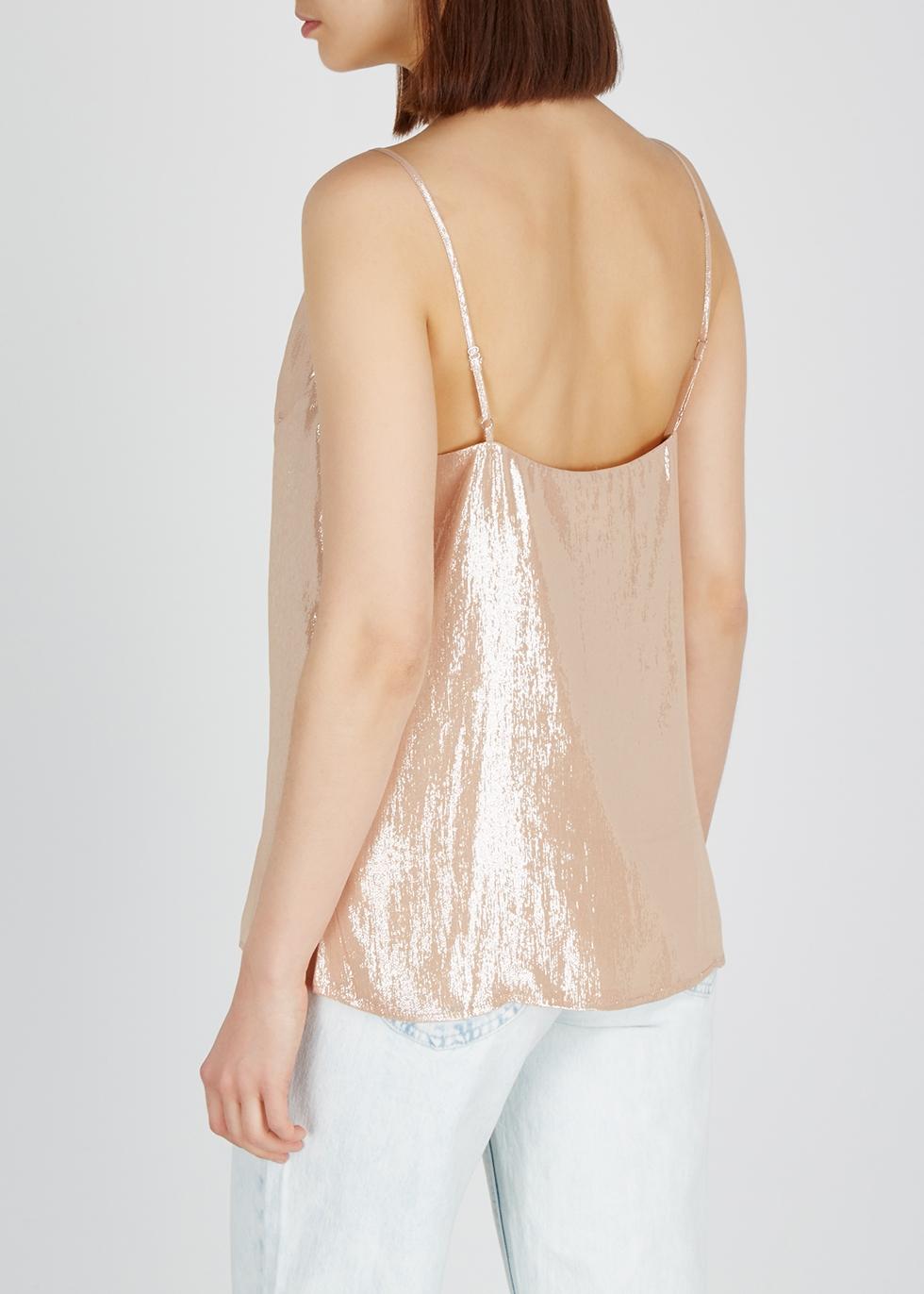 Olivia lamé silk-blend cami - Cami NYC