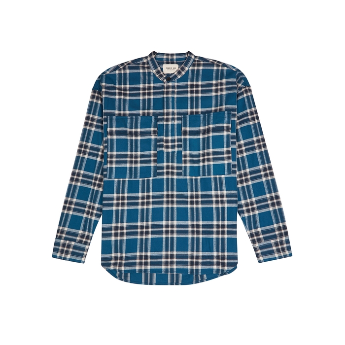 Fear Of God Tops FEAR OF GOD BLUE CHECKED COTTON TOP