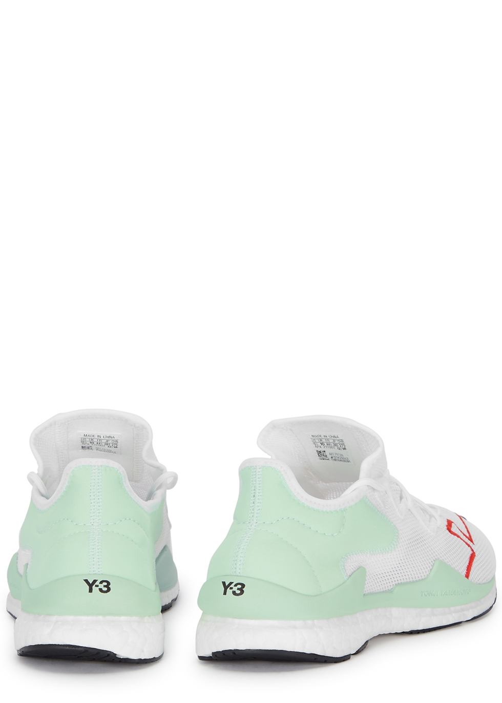 Adizero Runner white and mint mesh trainers - Y-3