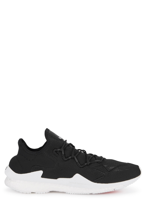Y-3 Adizero Runner black mesh trainers - Harvey Nichols a6a8b79e6b539