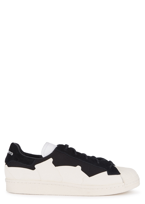 Y-3 Super Takusan monochrome canvas trainers - Harvey Nichols 3d4d56ed0db25