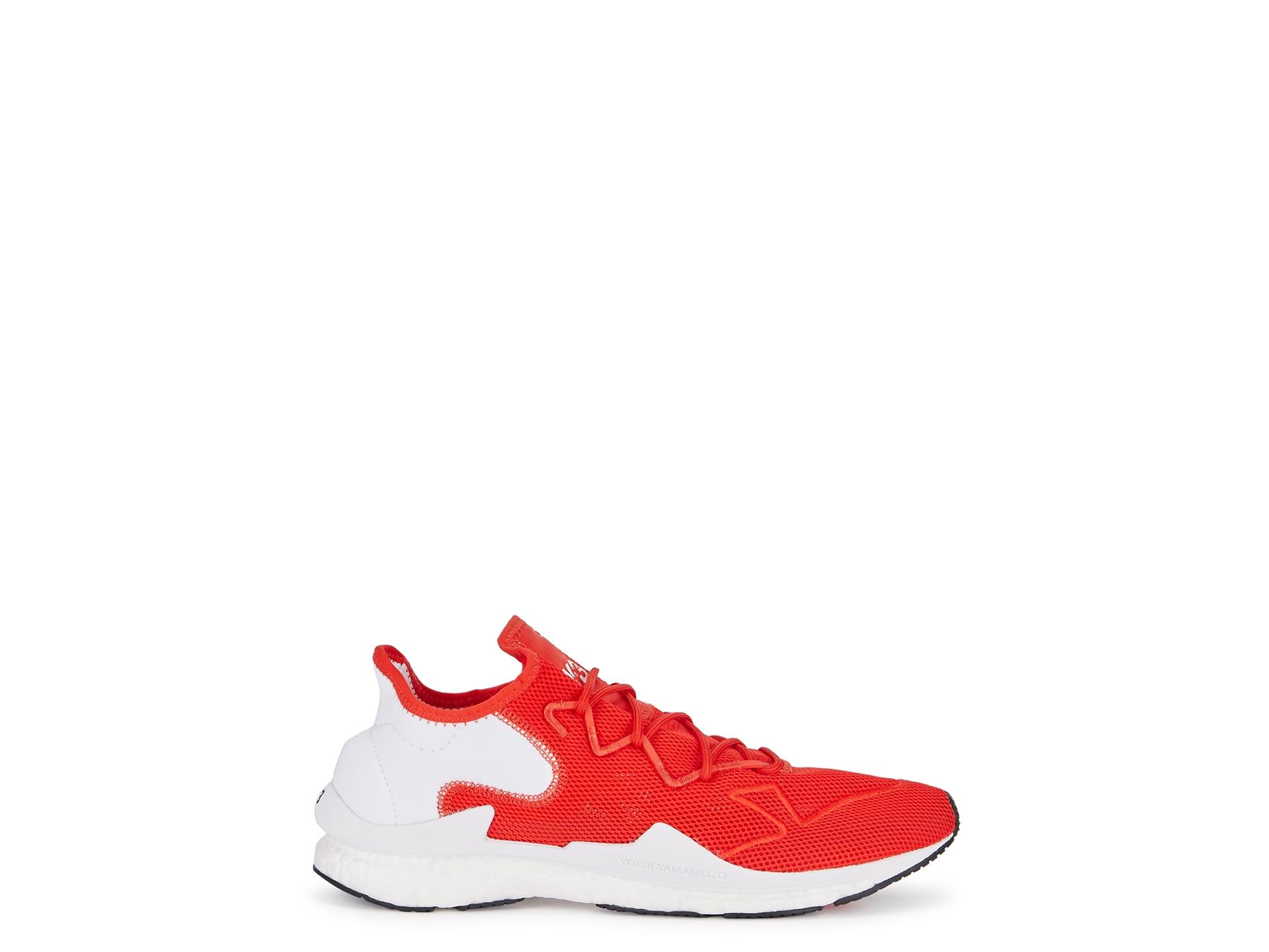 ec6a41e959918 Y-3 Adizero Runner red mesh trainers - Harvey Nichols