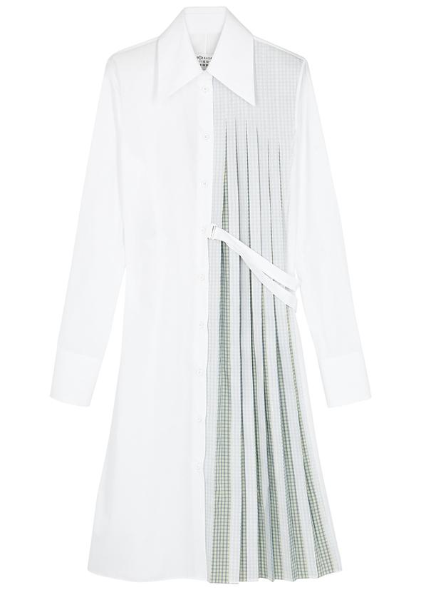 White pleated shirt dress White pleated shirt dress. New Season. Maison  Margiela 853f27801dce