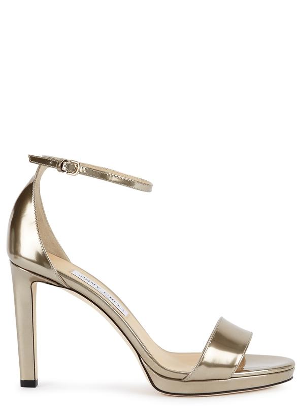 6d2a9720cab Misty 100 gold leather sandals ...