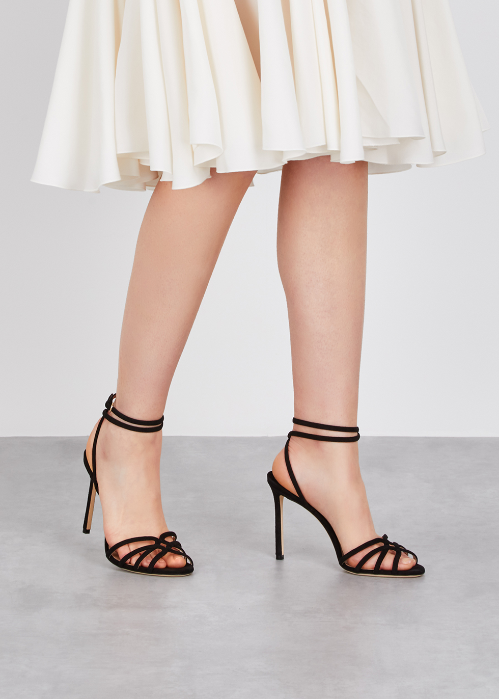 d76d0d2f3b3 Jimmy Choo Mimi 100 black suede sandals - Harvey Nichols