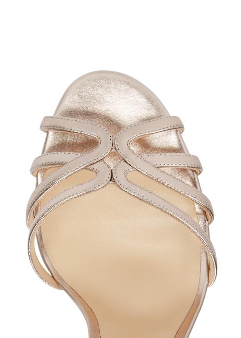 2c329f6efc8 Jimmy Choo Mimi 100 bronze leather sandals - Harvey Nichols