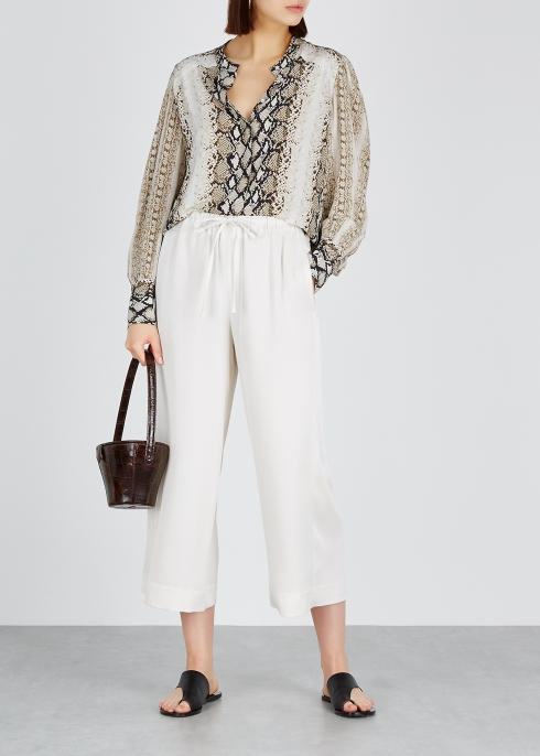 9b73ddd38ffce5 Joie Talin python-print chiffon blouse - Harvey Nichols