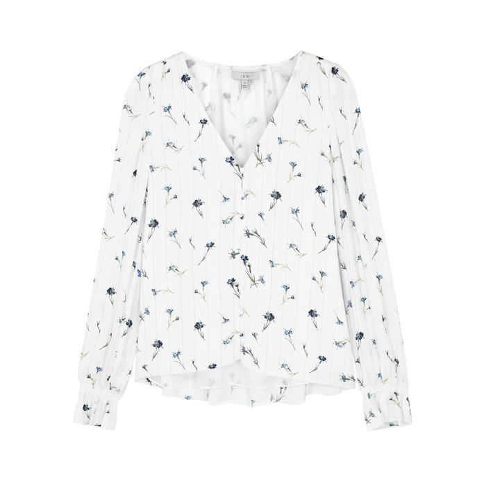 Joie Tops Bolona white crepe blouse
