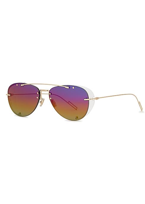 4ec00278245e Dior Homme Dior Chroma 1 aviator-style sunglasses - Harvey Nichols