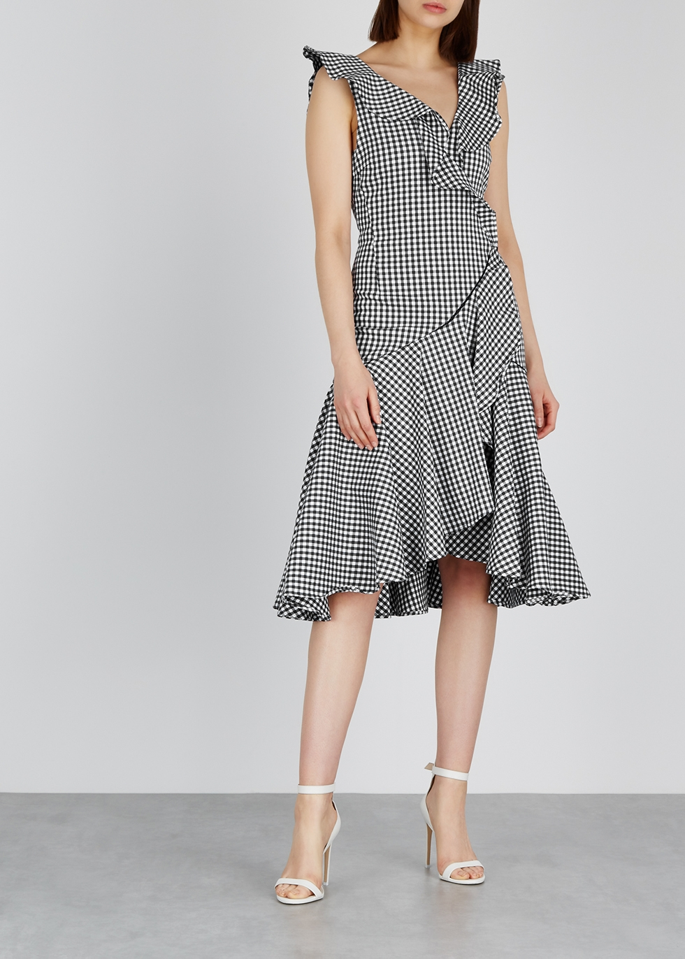 Gingham cotton-blend dress - Jonathan Simkhai