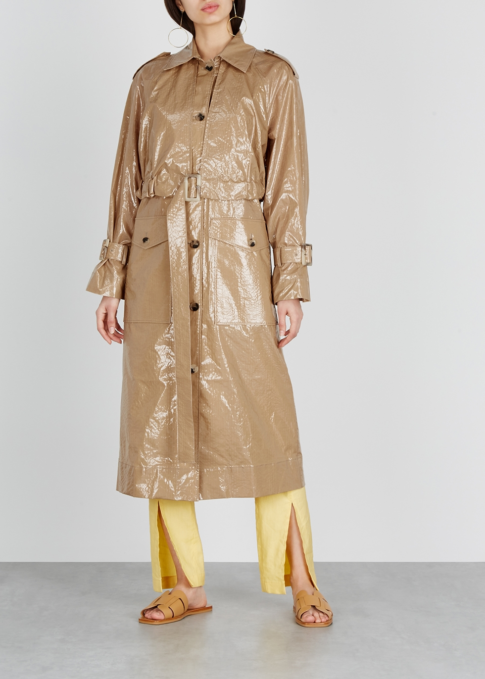 Wren coated cotton trench coat - Rejina Pyo