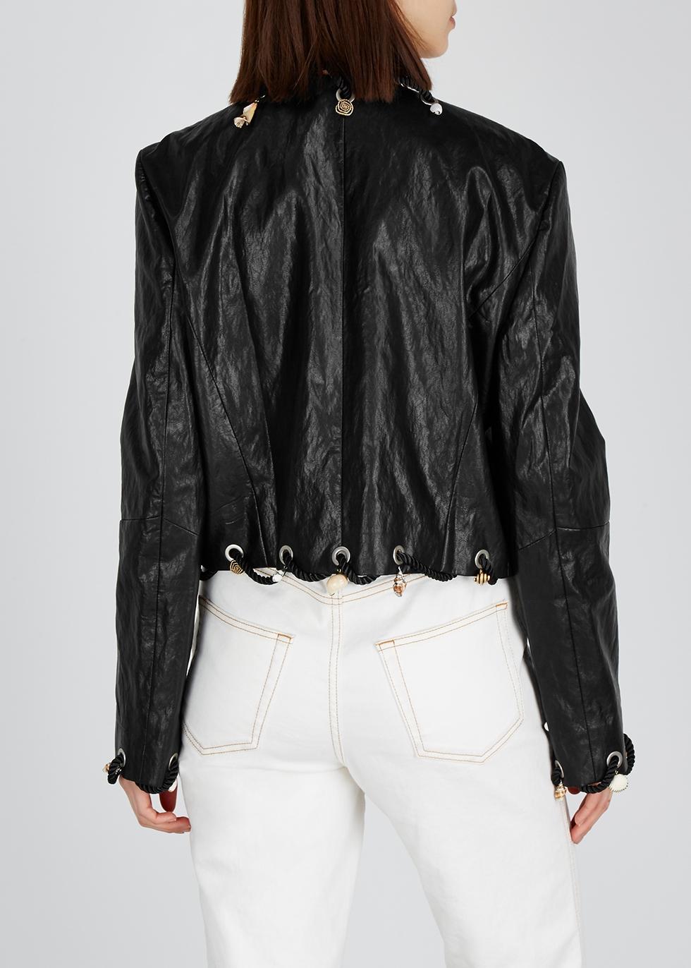 Ingrid embellished faux-leather jacket - Rejina Pyo
