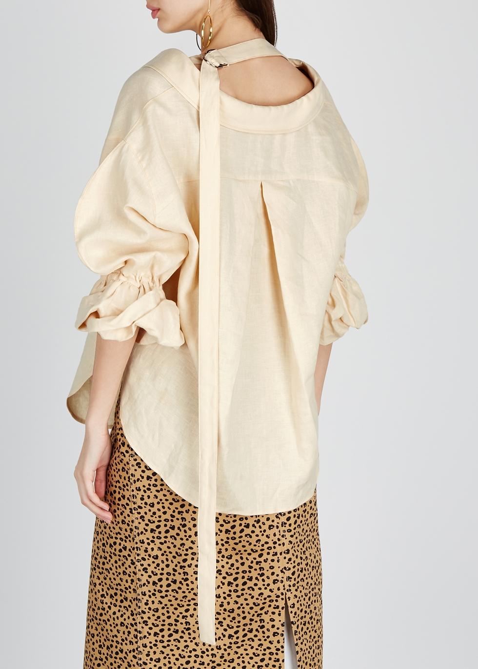 Amber cream linen shirt - Rejina Pyo