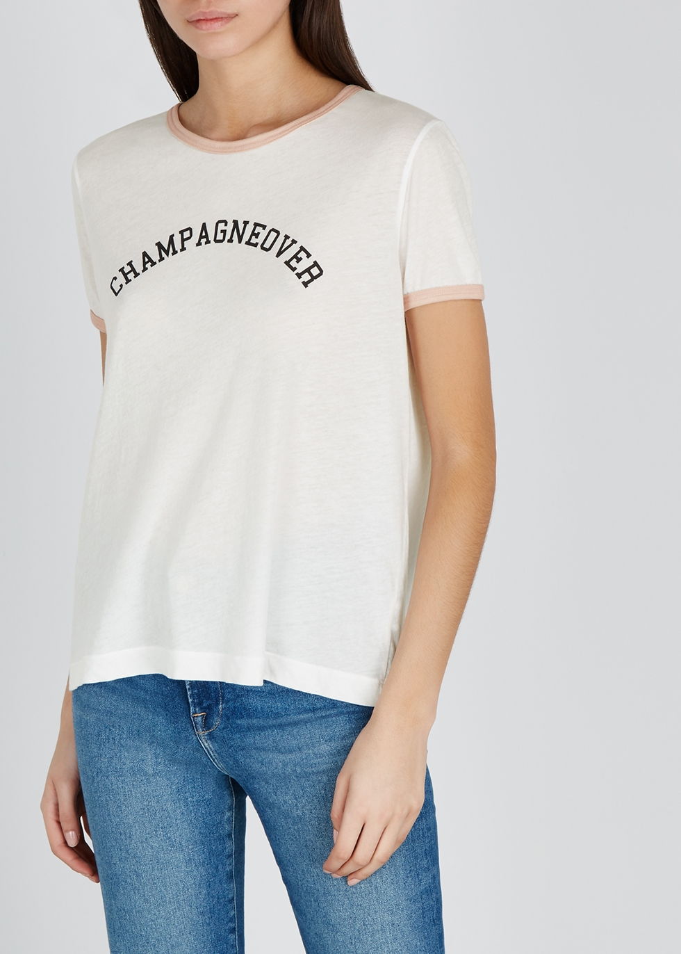 Champagne Johnny Ringer jersey T-shirt - Wildfox