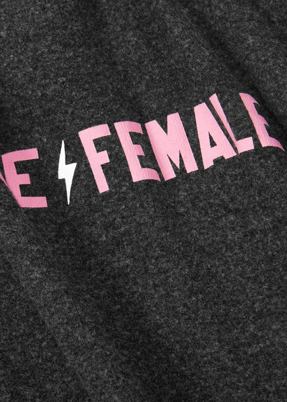 Fierce Female printed fleece sweatshirt - Wildfox