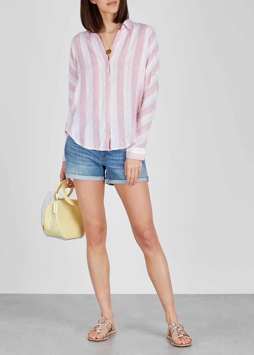 Alyssa striped linen-blend shirt - Rails