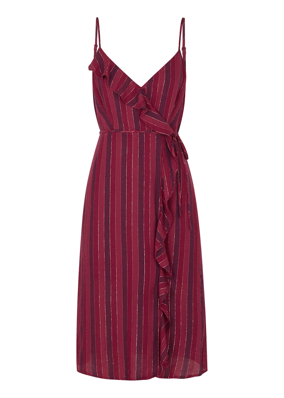 Ariel striped ruffle-trimmed dress - Rails