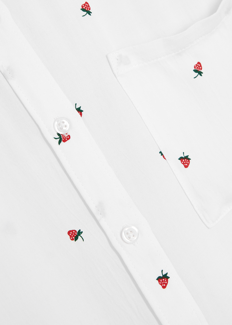Whitney strawberry-print shirt - Rails