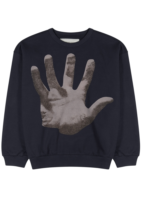 5abd6083a6 Dries Van Noten Haston hand-print cotton sweatshirt - Harvey Nichols